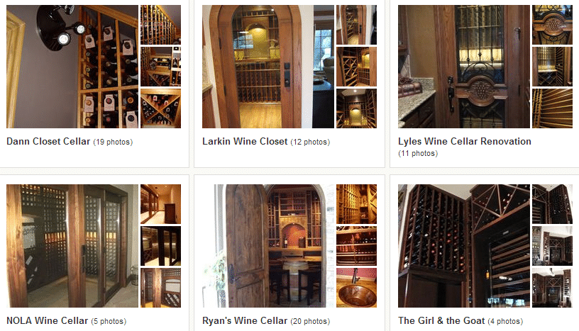 Click here to see more pictures of our wine cellars!