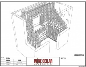 3D Design Custom Wine Racks Chicago Illinois