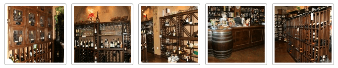 Bistro de la Reine Commercial Wine Racks