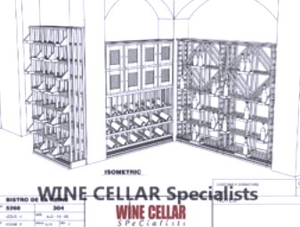 Commercial Wine Cellar in 3D Design