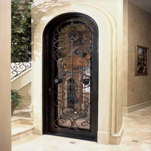 Hand Forged Wrought Iron Wine  Cellar Doors Dallas Texas