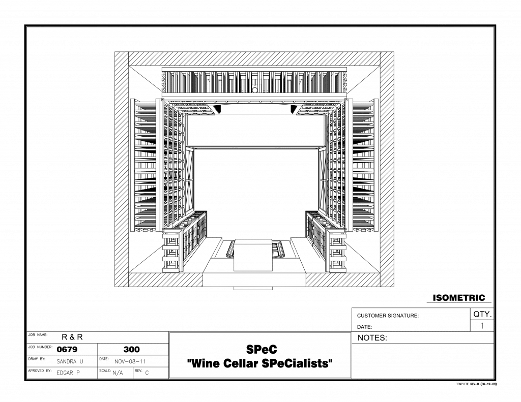 Custom wine racks custom wine cellars chicago for Wine cellar plans