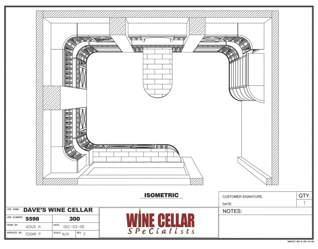 3D Wine Cellar Design