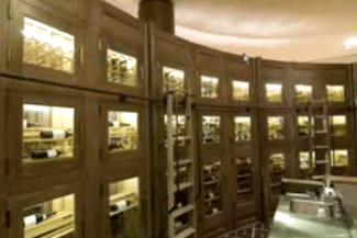 Commercial Wine Storage - Ladders and Rails