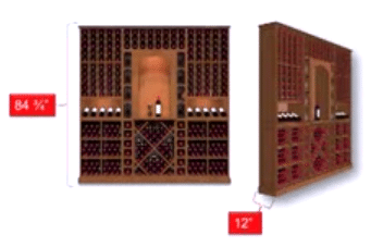 Depth and Height of KED Modular Wine Racks Illinois