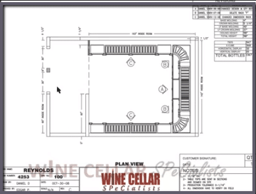 Overhead View - Wine Cellar Design