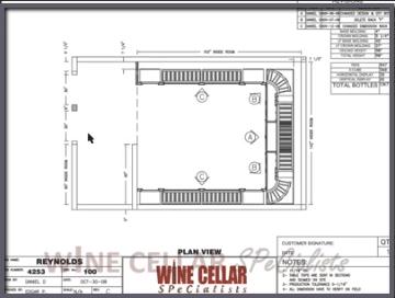 Overhead View - Wine Cellar Design