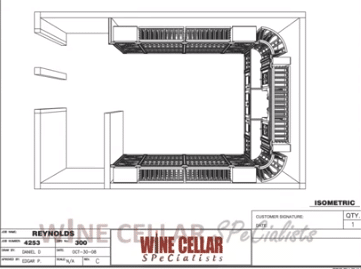 Overhead View 3D Wine Cellar Design