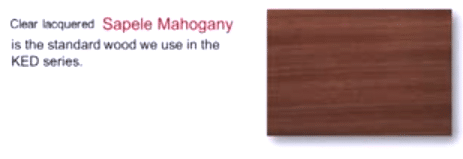 Sapele Mahogany Used in KED Series Wine Racks Illinois