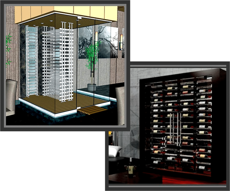 Flexible and Modern Label Ladder Ultra Series Wine Racks