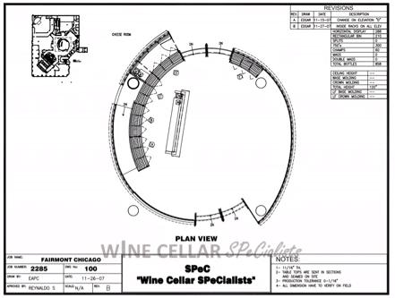 Wine Cellar Design -Commercial Wine Cellars Chicago Illinois Fairmont Hotel