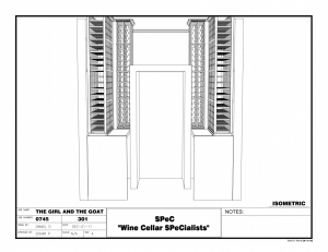 3D Wine Cellar Design - Commercial Custom Wine Cellars Chicago