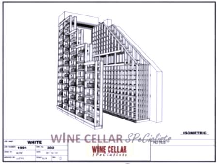 3D Drawings - Waterfall Design Wooden Wine Racks