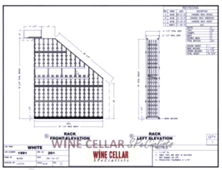 Elevation B - Custom Wine Cellars Chicago Illinois White's
