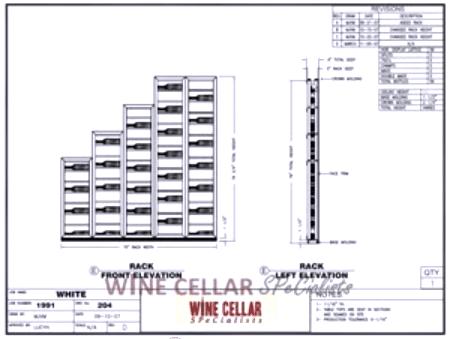 Elevation E - Custom Wine Cellars Chicago Illinois White's