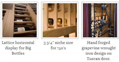 Mahogany Wine Racks, Horizontal Display