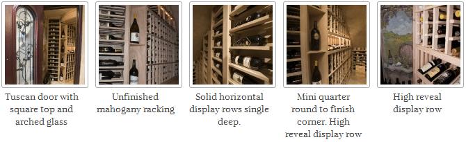 Tuscan Wrought Iron Wine Cellar Door & Mahogany Wine Racks