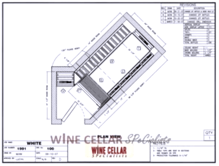 Custom Wine Cellars Chicago Illinois - Overhead Plan View