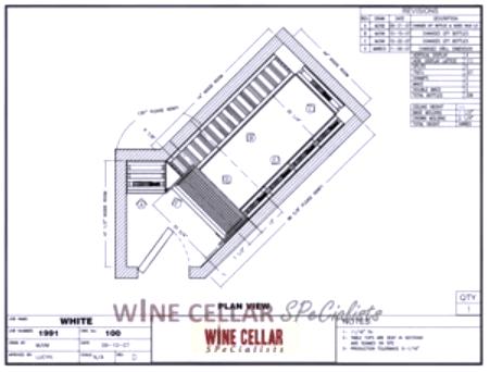 Custom Wine Cellars Chicago Illinois - Overhead Plan View