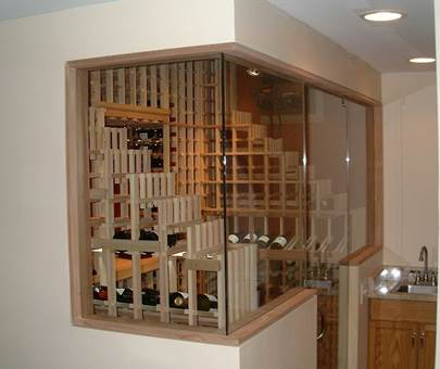 Wine Cellar Cooling and Glass Wine Cellar Doors