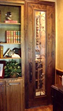 Tuscan Wrought Iron Wine Cellar Door