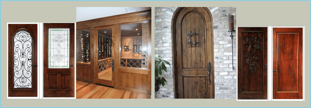 Wood Wine Cellar Doors