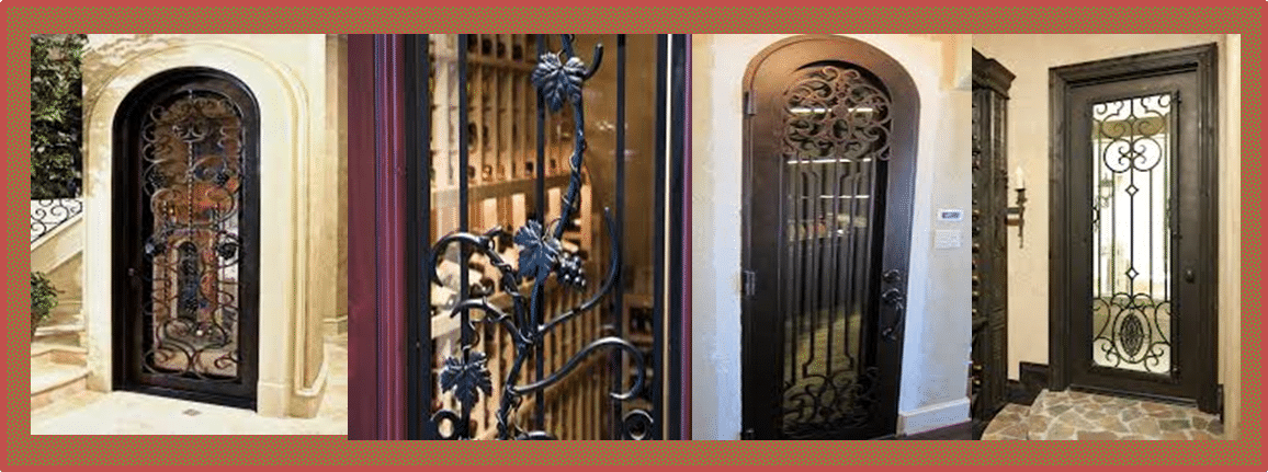 Wrought Iron Wine Cellar Doors by Wine Cellar SPecialists