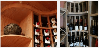 Curved Corner Wine Rack Display