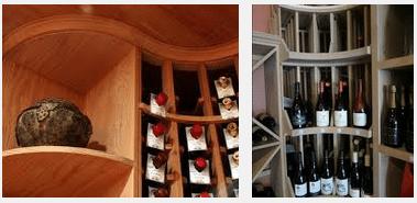 Curved Corner Wine Rack Display