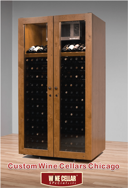 Vinotheque Wine Cabinet Sienna Villa Series & Custom Wine Cellars Chicago Illinois