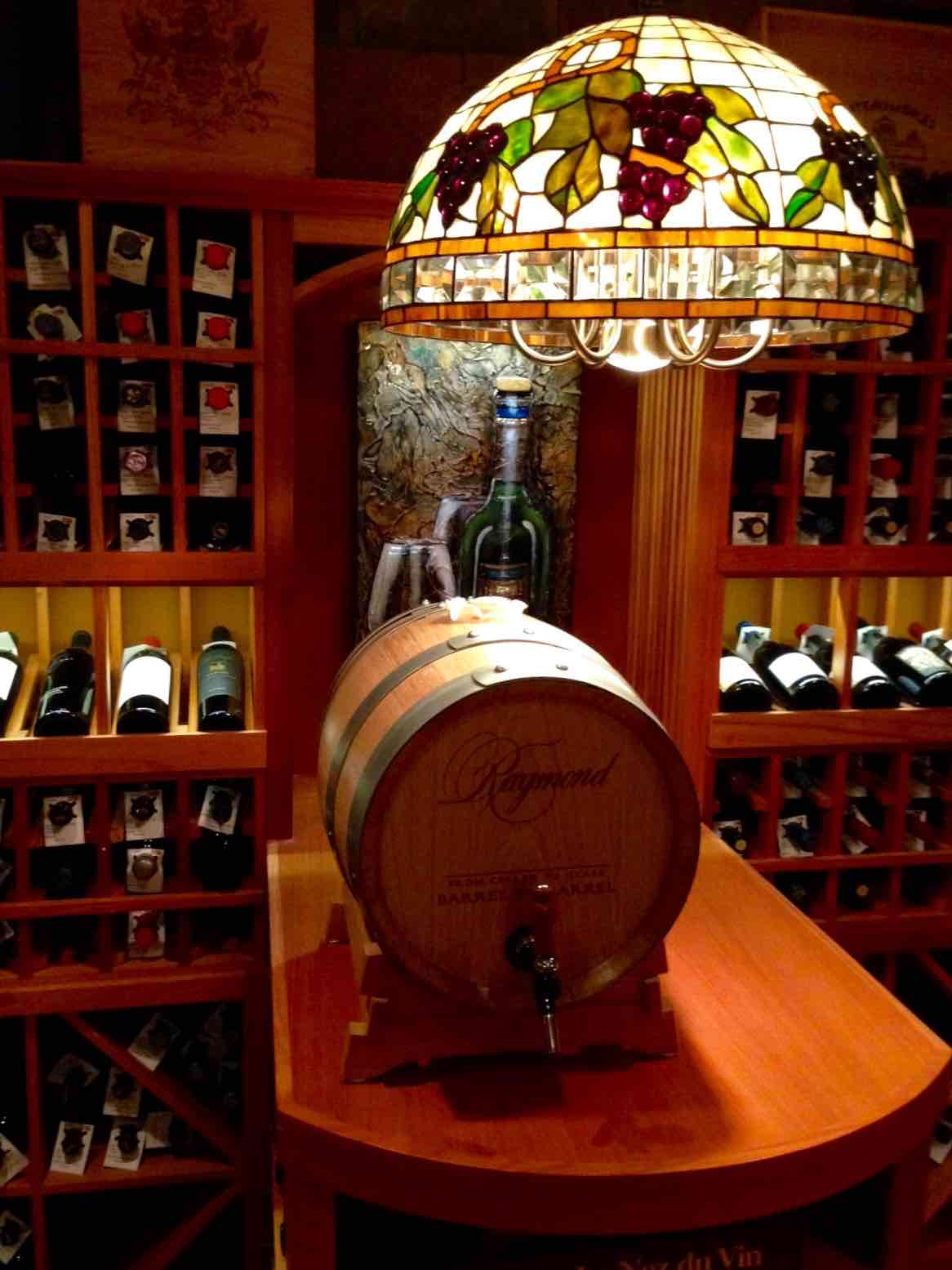 Chicago Home Wine Room - Tabletop and Wine Barrel