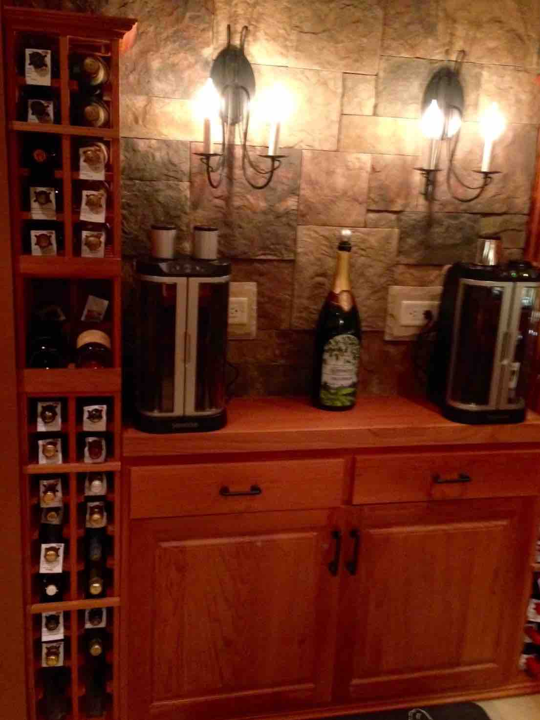 The Corking Station for Basement Wine Room Chicago Project
