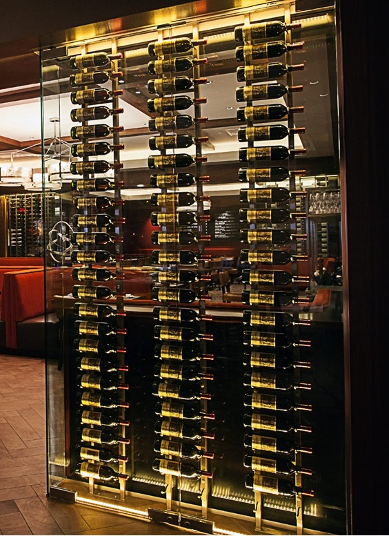 The Modern Style Wine Cellar Metal Racking Installation